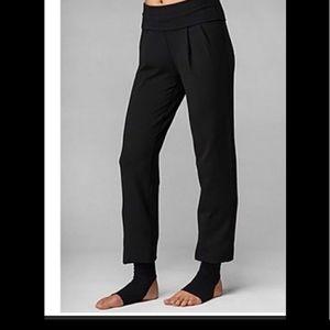 Lululemon black pleated stirrup pants